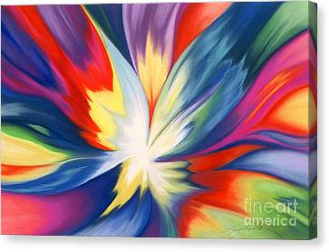 Burst Of Joy Canvas Print by Lucy Arnold