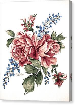 Bursting Blooms Canvas Print by Patty Muchka
