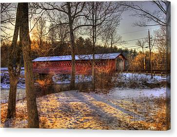 Burt Henry Covered Bridge - Bennington Vermont Canvas Print by Joann Vitali
