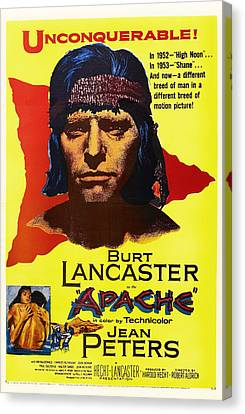 Burt Lancaster As The Apache 1954 Canvas Print by Mountain Dreams