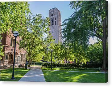 Burton Memorial Tower 1 University Of Michigan  Canvas Print