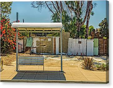 Bus Stop  Canvas Print by Peter Tellone