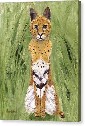 Canvas Print featuring the painting Bush Cat by Jamie Frier