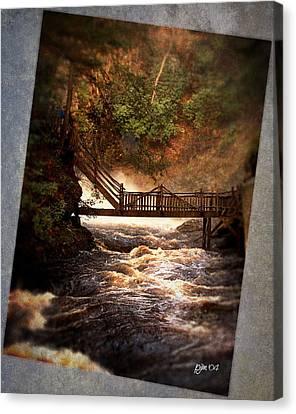 Canvas Print featuring the photograph Bushkill Falls by Phil Mancuso
