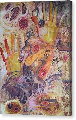 Bushman Comes Alive Canvas Print by Vijay Sharon Govender