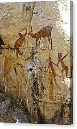 Bushman Painting Canvas Print by Michele Burgess