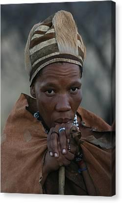 Bushmen Woman Canvas Print by Miranda  Miranda
