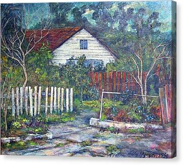 Bushy Old House Canvas Print by Lily Hymen