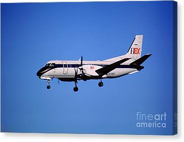 Business Express, Delta Connection, N353be, Bex Saab 340b Canvas Print