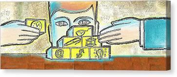Business Plan Canvas Print - Business Plan by Leon Zernitsky