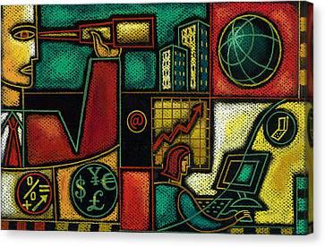Orb Canvas Print - Business Planning by Leon Zernitsky