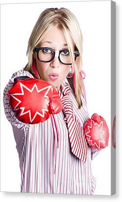 Businesswoman Training Canvas Print by Jorgo Photography - Wall Art Gallery