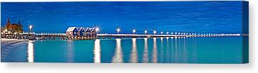 Busselton Jetty Full Length Panorama Canvas Print by Az Jackson