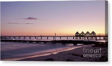 Canvas Print featuring the photograph Busselton Jetty Sunrise by Ivy Ho