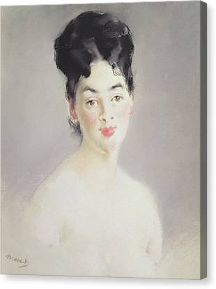 Bust Of A Young Female Nude Canvas Print by Edouard Manet