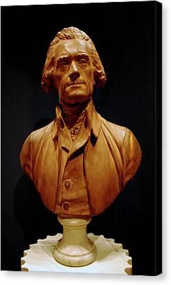 Travel Canvas Print - Bust Of Thomas Jefferson  by LeeAnn McLaneGoetz McLaneGoetzStudioLLCcom