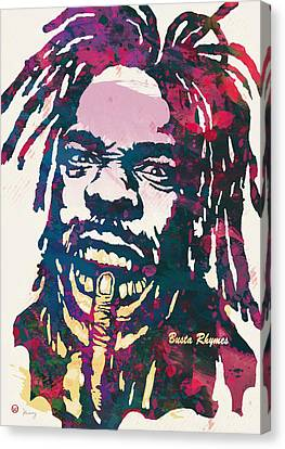 Wide Receiver Canvas Print - Busta Rhymes Pop Art Poster by Kim Wang
