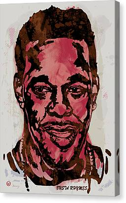 Busta Rhymes Pop Stylised Art Sketch Poster Canvas Print by Kim Wang