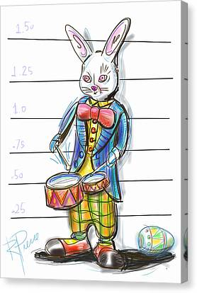 Arrest Canvas Print - Busted Bunny by Russell Pierce