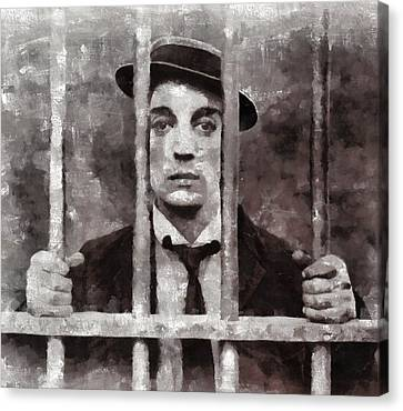 Buster Keaton, Actor Canvas Print by Mary Bassett