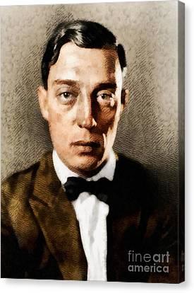 Buster Keaton, Hollywood Legend Canvas Print by John Springfield