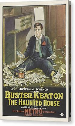 Buster Keaton In The Haunted House 1921 Canvas Print