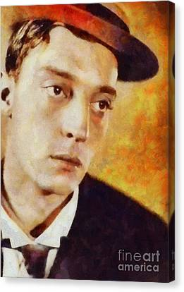 Buster Keaton, Vintage Hollywood Actor Canvas Print by Sarah Kirk
