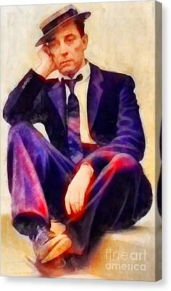 Buster Keaton, Vintage Hollywood Legend Canvas Print by Frank Falcon