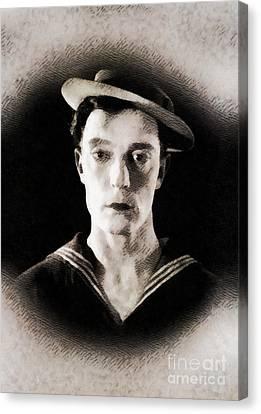 Buster Keaton, Vintage Hollywood Legend Canvas Print by John Springfield
