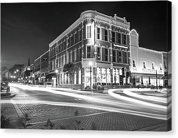 Busy Around Bentonville In Black And White- Northwest Arkansas Canvas Print by Gregory Ballos