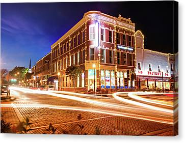 Busy Around Bentonville - Northwest Arkansas Canvas Print by Gregory Ballos