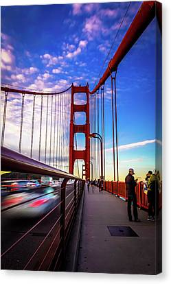 Busy Bay Bridge Canvas Print by Phil Fitzgerald