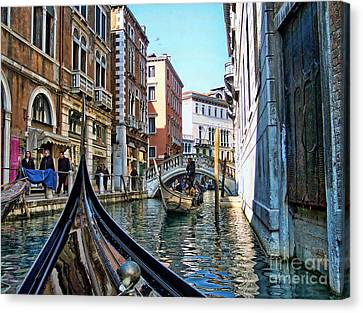Canvas Print featuring the photograph Busy Canal by Roberta Byram