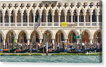 Busy Venice Canvas Print by Svetlana Sewell