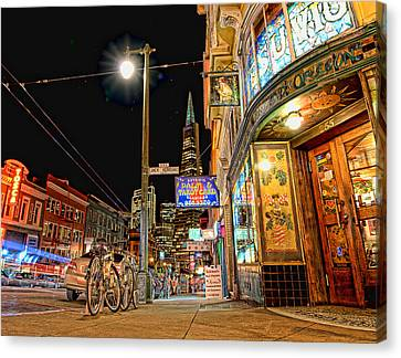Canvas Print featuring the photograph Busy View Northbeach San Francisco by Steve Siri