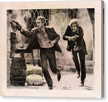 Butch Cassidy And The Sundance Kid, Classic Movie Canvas Print by John Springfield