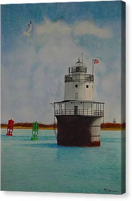 Butler Flats Lighthouse Canvas Print by Ron Sylvia