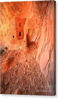 Overhang Canvas Print - Butler Wash Ruins by Adam Jewell