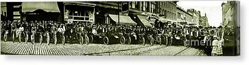 Butte Motorcycle Club Circa 1914 Canvas Print by Jon Neidert