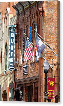 Butte Opera House In Colorado Canvas Print by Catherine Sherman
