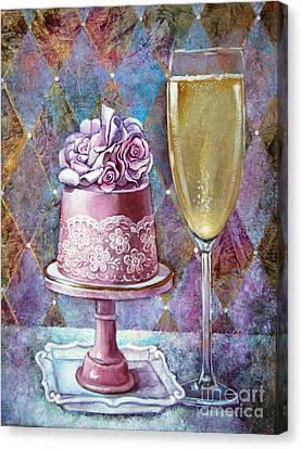 Butter Cream Rose Cake Canvas Print
