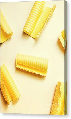 Butter Curls On White Background Canvas Print