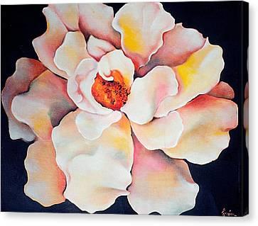 Butter Flower Canvas Print by Jordana Sands