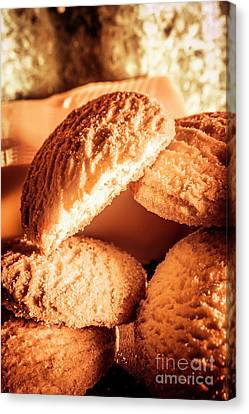 Butter Shortbread Biscuits Canvas Print by Jorgo Photography - Wall Art Gallery