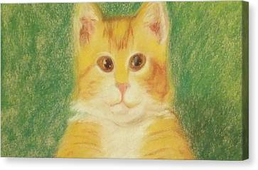 Canvas Print featuring the drawing Buttercup by Denise Fulmer