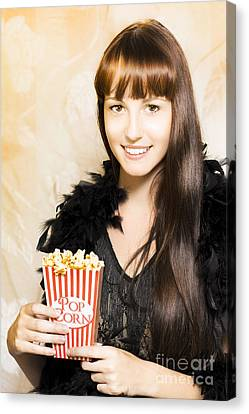 Buttered Popcorn At Showtime Canvas Print by Jorgo Photography - Wall Art Gallery