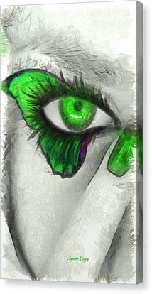 Nail Canvas Print - Butterfleye  - Pencil Style -  - Da by Leonardo Digenio
