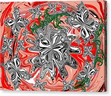 Butterflies Canvas Print by Elena Kucherenko