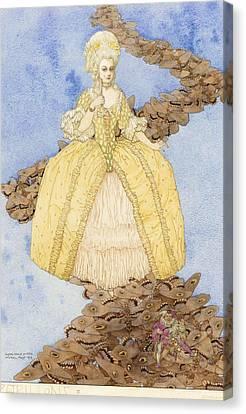 Butterflies Canvas Print by Gustav-Adolf Mossa
