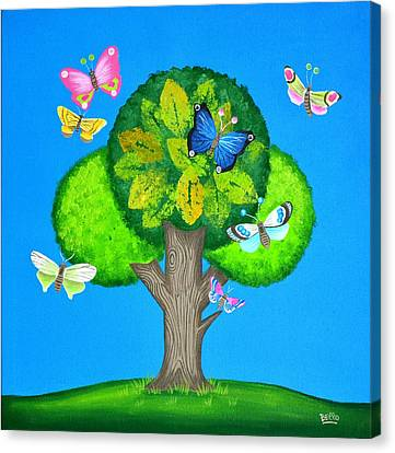 Butterflies Refuge Canvas Print